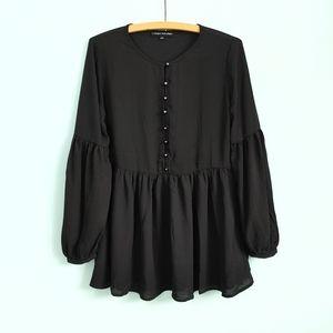 Catharine Malandrino   semi sheer blouse